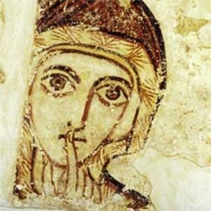 Frau Weisheit. Allegorische Figur des Alten Testamentes. Quelle: Bistum Augsburg Pressestelle.