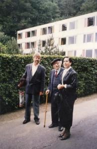 Im JUli 1988 hielt Shalom Ben Chorin (hier mit seiner Gattin. Horst Eisel links.) ein Ökumenisches Seminar im Hedwig-Dransfeld-Haus: Christlicher Glaube aus jüdischer Sicht.