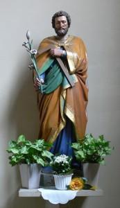 Traditionelle Josefsfigur in der katholischen Kirche  Bad Calv. Quelle Wikipedia.