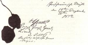 Konvention von Tauroggen 30. Dezember 1812; Unterschriften von General Yorck (für Preußen) und General Diebitsch (für Russland) ; Wikimedia 20151104.